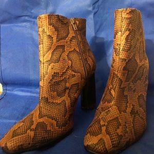 H&M snakeskin booties